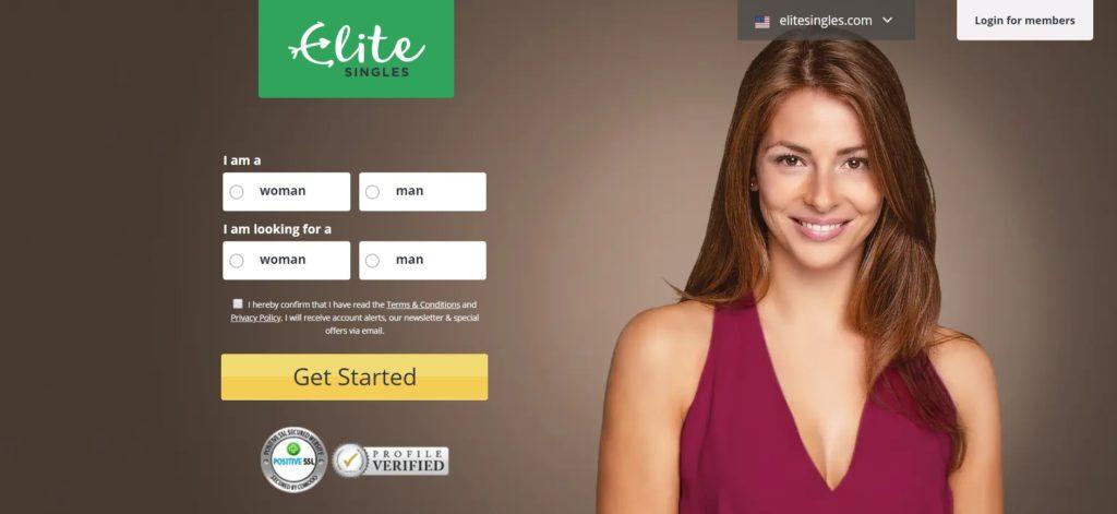 Elite Singles Homepage