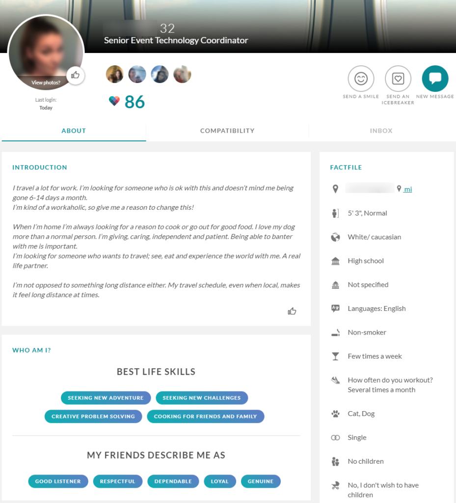 eharmony profile