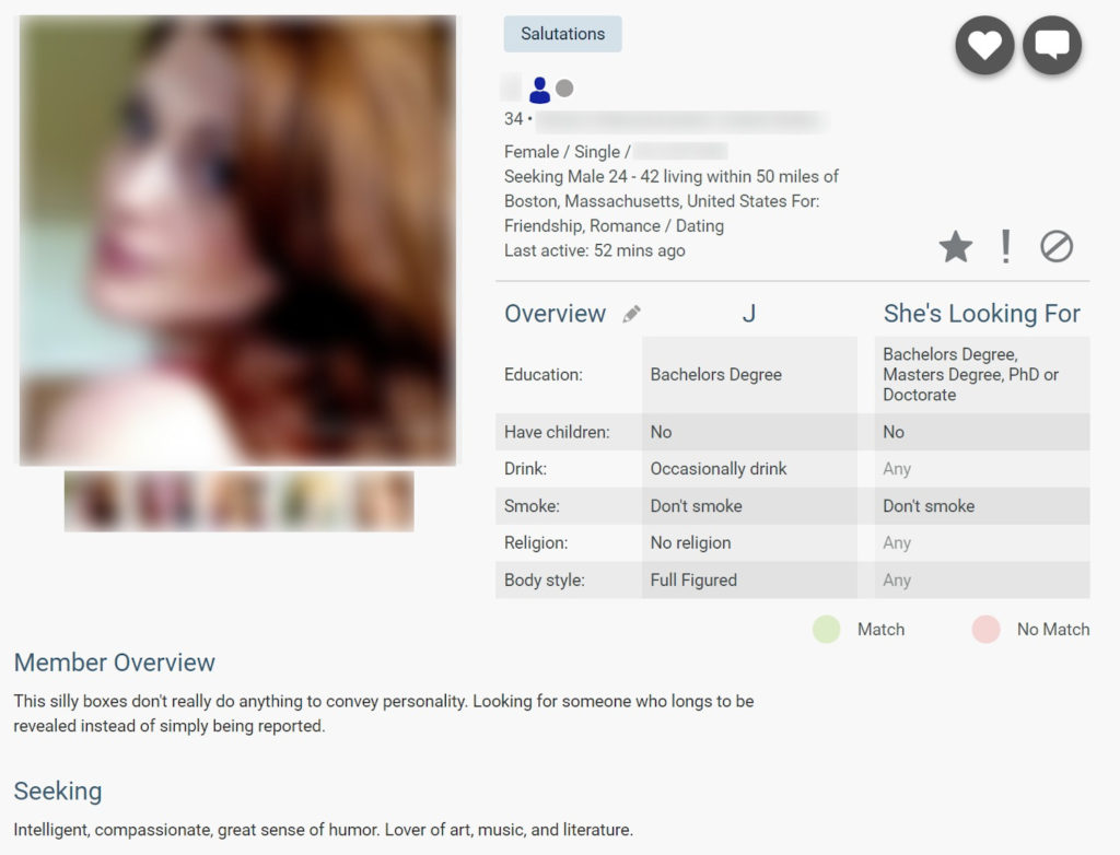 BBWCupid Profile