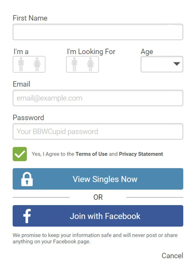 BBWCupid Registration