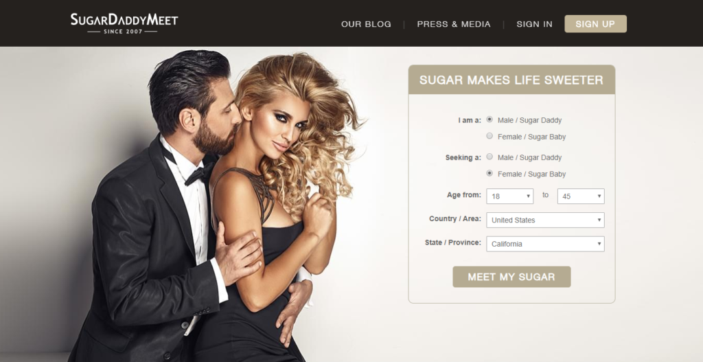 SugarDaddyMeet HomePage